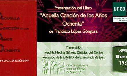 Francisco López Góngora presenta su nuevo libro en Úbeda