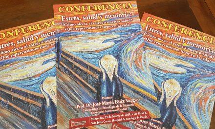 El estrés, tema a debate en una conferencia impartida por el catedrático José María Ruiz