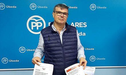 """PP de Úbeda detecta """"falta de seriedad"""" en las medidas de reactivación económica del PSOE"""