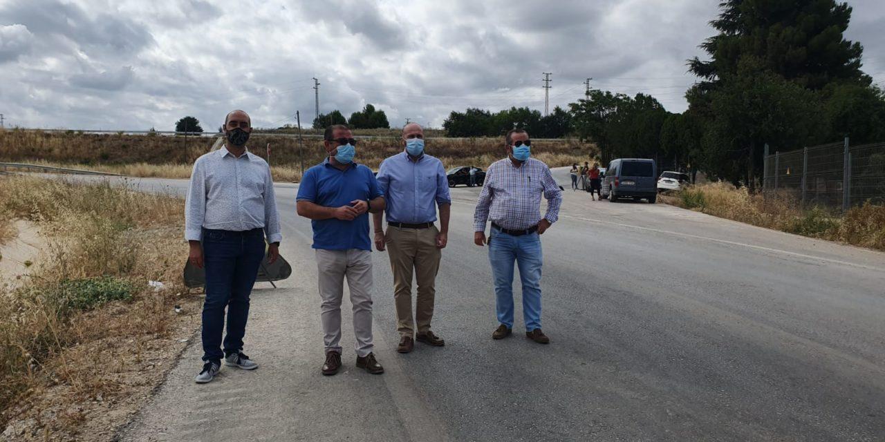 Las obras que ejecuta la Diputación en la carretera de Úbeda al Mármol se encuentran a más del 60% de ejecución